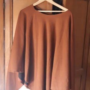 Bronze colored sleeveless cape